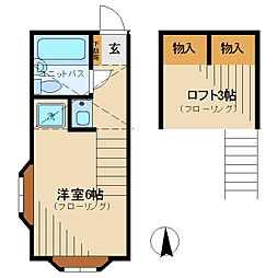 JR中央線 武蔵小金井駅 徒歩23分の賃貸アパート