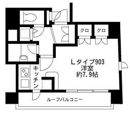 東京都千代田区九段南2丁目の賃貸マンションの間取り