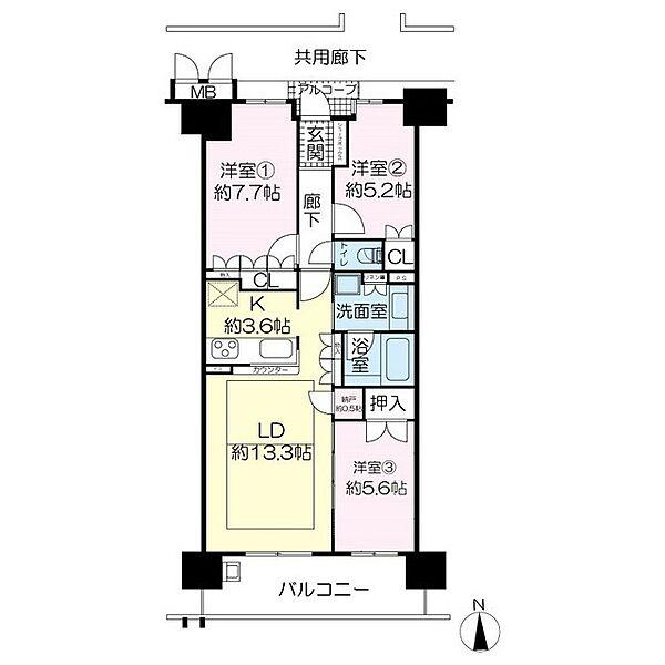 京都桂川つむぎの街グランスクエア[8階]の間取り