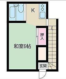 黒部アパート[201号室]の間取り