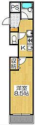 クオーレ京都[401号室]の間取り