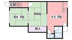 吉田文化[101号室]の間取り