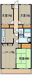パピヨン片山[3階]の間取り