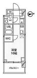 都営浅草線 高輪台駅 徒歩5分の賃貸マンション 3階ワンルームの間取り