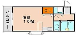福岡県福岡市博多区那珂3丁目の賃貸マンションの間取り