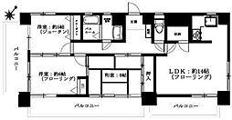 埼玉県さいたま市浦和区高砂2丁目の賃貸マンションの間取り