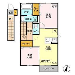 仮)D-room取手ゆめみ野39街区C[2階]の間取り