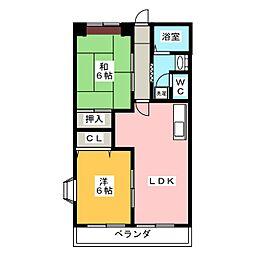 エステートヤマキ[1階]の間取り