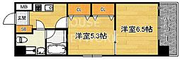 京都府京都市上京区堀川通上立売下る西入る山名町の賃貸マンションの間取り