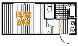 東京都足立区東綾瀬1丁目の賃貸アパートの間取り