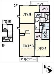 セレーノ長草[2階]の間取り