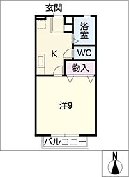ジェミニ覚王山 B棟[1階]の間取り