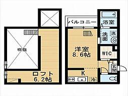 愛知県名古屋市南区立脇町1丁目の賃貸アパートの間取り