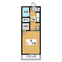 グリーンコーポ西大垣 A[2階]の間取り