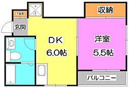 東京都練馬区下石神井6丁目の賃貸マンションの間取り