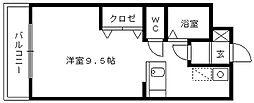 メゾン吉田[206号室]の間取り