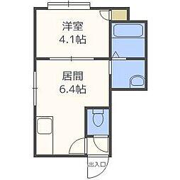 北海道札幌市厚別区厚別中央四条2丁目の賃貸アパートの間取り