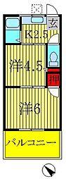 第5メゾン若竹[202号室]の間取り