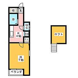 パレッタ砂子[1階]の間取り