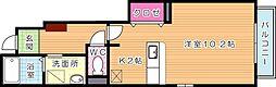 サンフレイムYABEI A棟[1階]の間取り
