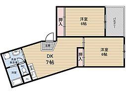 アブニール福島[3階]の間取り