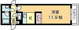 札幌市営南北線 北12条駅 徒歩4分の賃貸アパート 2階1Kの間取り