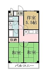 メゾンヨシザワ[302号室]の間取り