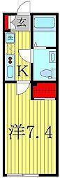 Le clair(ル・クレール)新松戸[1階]の間取り