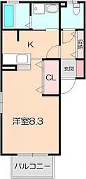 ザウバーヴィントII[2階]の間取り