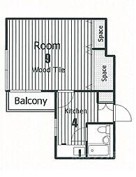 第2正美堂ビル[803号室]の間取り