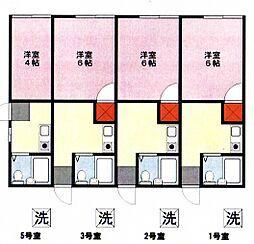 むさしのハウス[1号室号室]の間取り