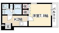愛知県名古屋市昭和区台町2丁目の賃貸マンションの間取り