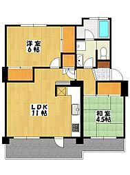 市川中山住宅7号棟[208号室]の間取り
