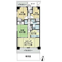 藤和シティコープ草加新田2[1階]の間取り
