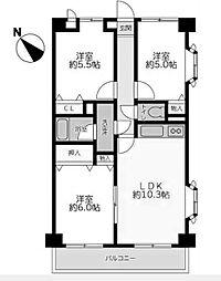 サンフローラ[1階]の間取り