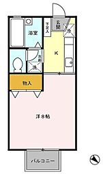 ルーラルハイツ[1階]の間取り