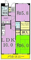 ロイヤルガーデン(愛宕)[2階]の間取り