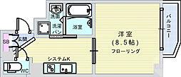Osaka Metro千日前線 日本橋駅 徒歩9分の賃貸マンション 5階1Kの間取り