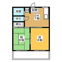 アメニティハイツ[1階]の間取り