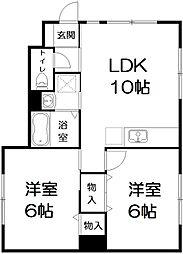 パティオ桜木[A101号室号室]の間取り