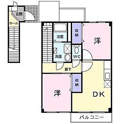 ベルセレーノ[2階]の間取り