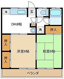 日和荘 203[2階]の間取り