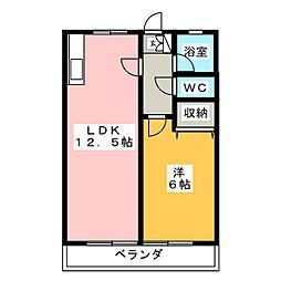 サントピア室賀[3階]の間取り