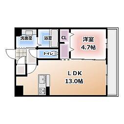 愛知県北名古屋市弥勒寺東2の賃貸アパートの間取り