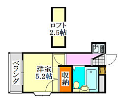 クレスト津田沼第01[201号室]の間取り