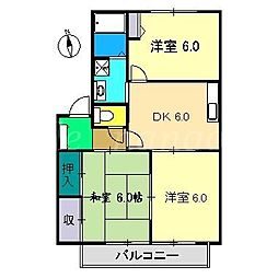 レ・モンベールA棟[2階]の間取り