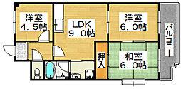 メーレル東雲[2階]の間取り