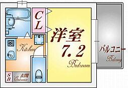 ピュアハイツGOTO[201号室]の間取り