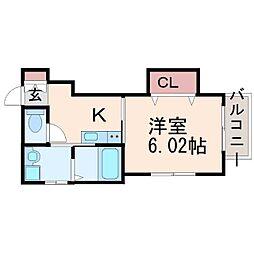 Lien Naruo(リアン ナルオ)[1階]の間取り