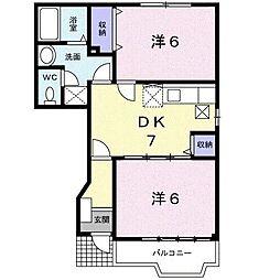 ムート21 A[1階]の間取り